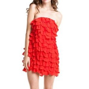Leifsdottir petal ruffle strapless dress NWT DB8